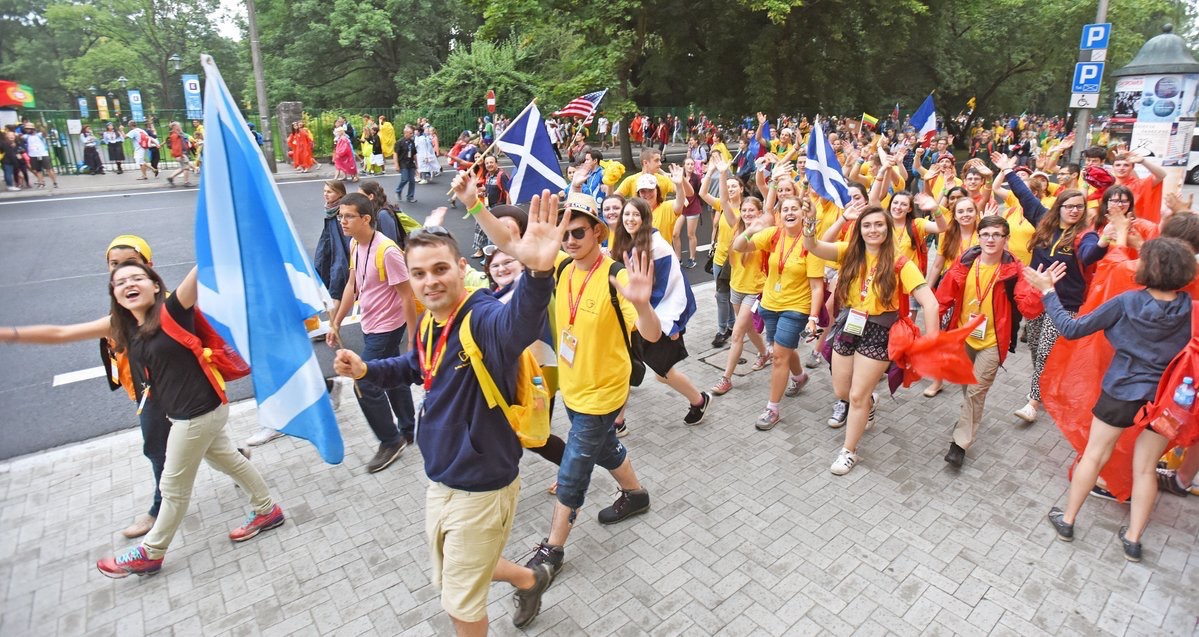 Dunkeld Youth attending World Youth Day - Photo courtesy of Paul McSherry