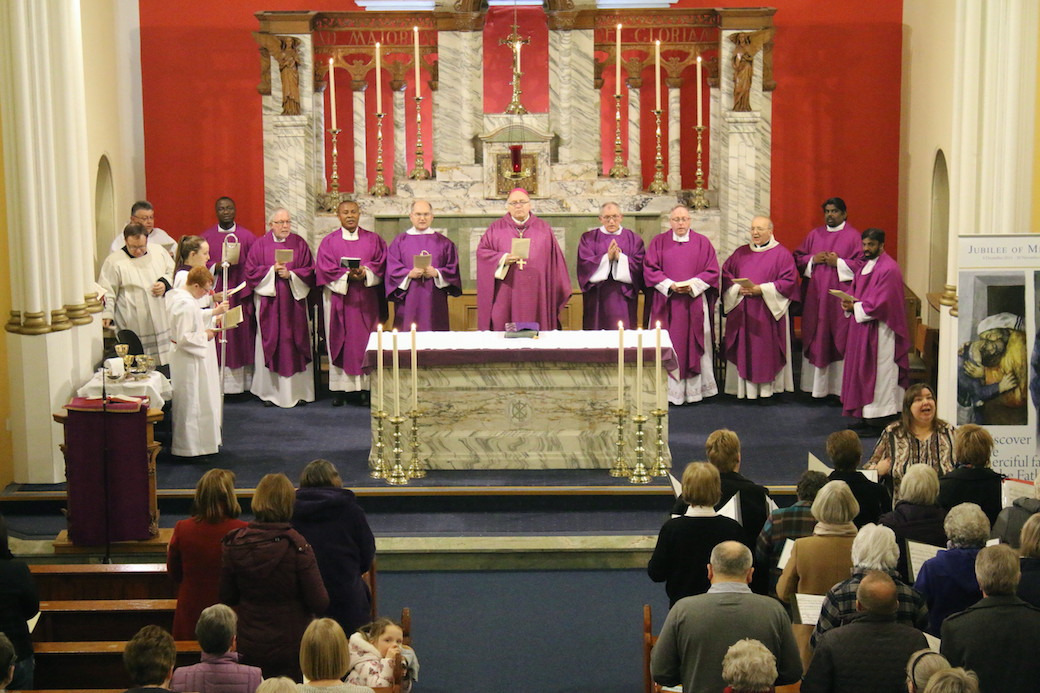 Priests and parishioners from through the Deanery of St Margaret's attended the Second Station Mass in St Thomas', Arbroath on Wednesday 24th February with Bishop Stephen Robson.